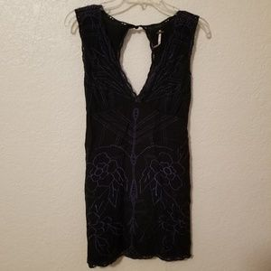 Free People floral embroidered dress SZ S